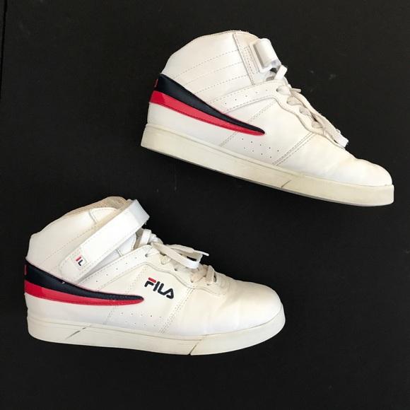 Fila Shoes | Vtg Fila High Tops White
